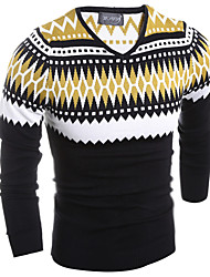 Men's Print Pullover,Cotton Long Sleeve