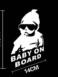 Funny Baby on Board Car Sticker Car Window Wall Decal Car Styling