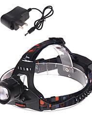 Освещение Налобные фонари / Велосипедные фары LED 1200 Люмен 3 Режим Cree XM-L T6 18650Фокусировка / Водонепроницаемый / Перезаряжаемый /