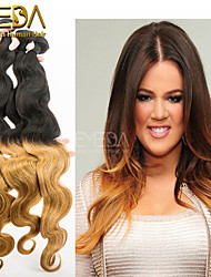 3pcs / lot billig eurasian Körperwelle ombre Haarspinnen 2 tone menschlichen ombre Haarverlängerungen 1b / 27 Menschenhaar spinnt 8 '' -