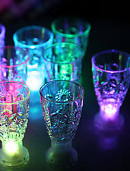 12*8.3CM Christmas Colorful Flash Light Glass Induction Switch Control Plastic Cup Light LED Lamp 1PC