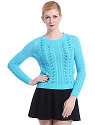 Women's Casual/Work Long Sleeve Pullover , Knitwear Medium