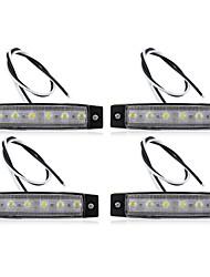 4 х индикатор автомобиль грузовик лодку автобус ван 6 светодиодная лампа сигнала водонепроницаемый безопасной новой