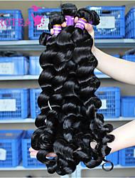3 Pcs Brazilian Loose Wave Brazilian Human Hair Weave Bundles Loose Curly Wave Hair