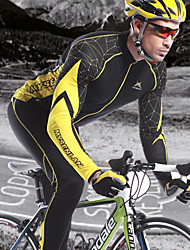 MYSENLAN Bike/Cycling Jersey / Tops Men's Long Sleeve Breathable / Quick Dry / Wearable / Windproof / Thermal / WarmSpandex / 100%