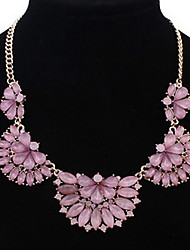 Alloy Crystal Siamond Flower Necklace