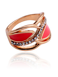 Korean Enamel Crystals Alloy Ring