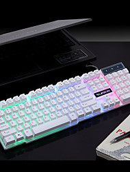 RAJFOO Rainbow Light Emitting Suspension Class MechanicalFeel Super Cool Gaming Keyboard