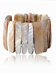 Vintage Look Natural Seashell Elastic Shell Women Bracelet(1PC)