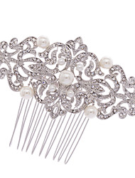 Bridal Hairpins Rhinestone Flower Pearl Hair Combs Wedding Hair Jewelry Accessories Pageant Headpiece