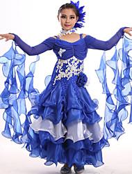 Roupa ( Rosa / Royal Blue , Elastano , Dança Moderna ) - de Dança Moderna - Crianças