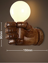 E27 220V 15*9CM 15-20㎡ European Wall Right Hand Creative Retro Fist Wall Lamp Led Lights