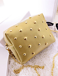 Women PU Sling Bag Shoulder Bag - Blue / Gold / Silver / Black