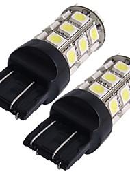 2 * 7443 7440 T20 lampe ampoule de frein arrière de voiture 5050SMD blanc 27 LED 12V 2.5W lumière 250LM