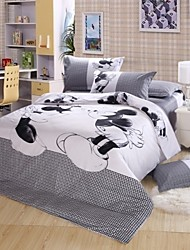Top Queen Size Mickey Mouse Bedding,Minnie Mouse Bedding Sets Mickey and Minnie Bedding Duvet Cover Sets for Kids