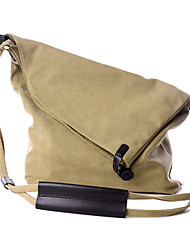 Women Canvas Saddle Shoulder Bag / Tote / Storage Bag - Beige / Pink / Blue / Orange / Gray shopping bag