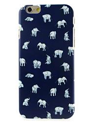 un grand nombre de cas dur de motif d'éléphant pour iphone 6 / 6s