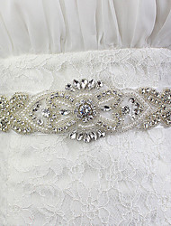 Hand Made Satin Wedding / Party/ Evening Sash - Pearls / Crystal / Rhinestone Women's Sashes