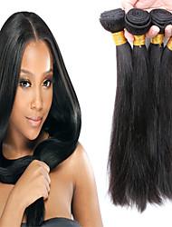 """cabelo produtos de cabelo não transformados slove peruano cabelo virgem 4pcs retas cabelos lisos 8 """"-30"""" pacotes de cabelo humano"""