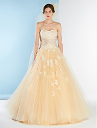 Lanting Bride A-line Wedding Dress-Court Train Sweetheart Lace / Tulle / Charmeuse