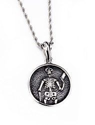 Kalen®2016 New Fashion Jewelry Punk 316L Stainless Steel Skull Pendant Necklace 760mm Long Chain Men's Necklaces
