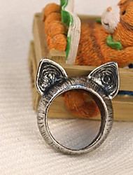 Vintage Style Lovely Cat  Ear Alloy Ring