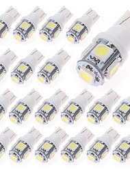 20PCS  T10 1W 5X5050SMD 70-90LM 6000-6500K Cool White LED Car Light (DC 12V)
