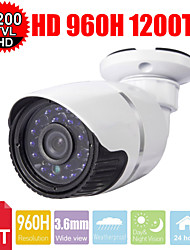 cctv 24les-ir cut 1200tvl 3.6mm 1/3 sony cmos hd 960H waterdichte outdoor bullet bewakingscamera