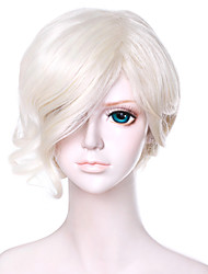 13inch Short Curly Touken Ranbu Online Gokotai Beige Synthetic Anime Cosplay Hair Wig QY-020