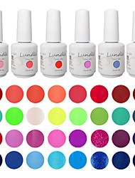 Choose 6 Pieces Lundle Soak Off UV Nail Gelpolish 141 Color Gel Base Top Coat Gel LED Manicure Gel