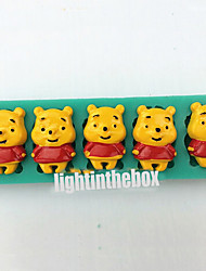5 in 1 Cute Bear DIY Silicone Chocolate Pudding Sugar Cake Mold