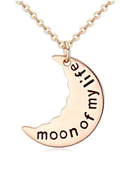 Minimalist Moon Lettering Clavicle Chain Personalized Necklace Christmas Gift