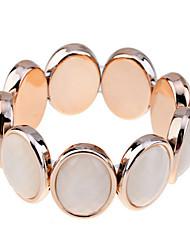 Korean Oval Shape Resin Elastic Bracelet