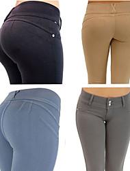 DONNE - Pantaloni - Bodycon A vita alta - magro Poliestere