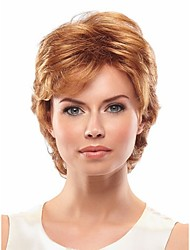 Elegant Short Synthetic Hair Wave Wigs Extensions Bang of  Wig