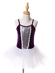 kids dance costumes/Ballet Tutus & Skirts/Dresses/Tutus Children's Performance/Training Tulle/Velvet Paillettes 1 Piece