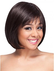 Vibrant Bob Hairstyle Human Virgin Remy Hand Tied-Top Capless Short Straight Hair Wigs