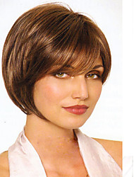Women Lady Brown Color Synthetic Hair Wigs