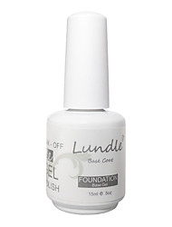 Lundle Soak Off UV Nail Gel Polish Base Coat Gel Foundation LED Manicure Gel