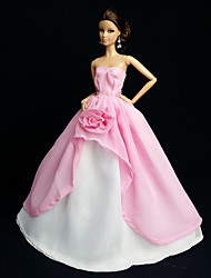 Fantasias de Filme e Tema de TV Vestidos Para Barbie Doll Rosa Vestidos