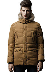 Winter in the men's long nut cotton-padded jacket thickening han edition dress men's coat quilted jacket