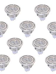 5W GU5.3(MR16) Spot LED MR16 3 COB 450 lm Blanc Chaud Blanc Froid Décorative DC 12 AC 12 AC 85-265 V 10 pièces