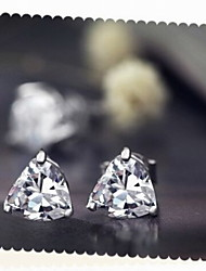 Lovely Heart Zircon Alloy Earrings