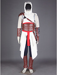 Inspired by Assassin Altair Video Game Cosplay Costumes Cosplay Suits PatchworkPants Gloves Belt Bag Cloak Shoe Cover T-shirt Hat