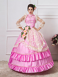 Steampunk®Pink Long Sleeves Princess Symposium Victorian Dress Royal Vintage Party Long Prom Dresses
