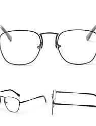 [Lentes Gratis] Unisex 's Metal Rectángulo Completo llanta Clásico / Sunglass Estilo Anteojos recetados