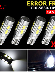 4x canbus coin t10 blanc 192 168 194 W5W 10 5630 LED SMD erreur ampoule lumière 12v gratuitement
