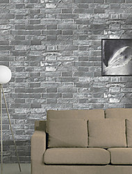 New Rainbow™ Floral Wallpaper Classical Wall Covering , PVC/Vinyl 3D Stereoscopic Brick Retro Brick Pattern Wallpaper