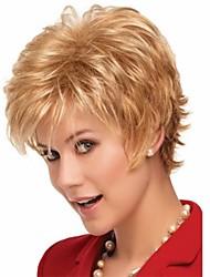 natrural perruque blond courts perruques de cheveux de qualité supérieure bouclés synthétiques pour la vie quotidienne