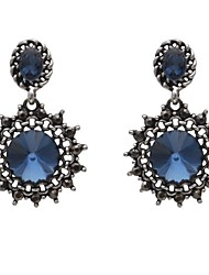 antique silver crystal earring